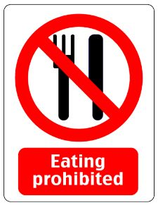 Eating prohibited verkleind